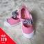 รองเท้าผ้าใบแต่งโบว์ที่สายรัดหน้าเท้า สีชมพู thumbnail 1
