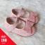 รองเท้าคัทชูส้นแบนติดเหลื่อมแต่งโบว์ สีชมพู thumbnail 1