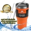ozark trail แก้วเก็บเย็น + หลอดดูดสแตสเลส + แปรงทำความสะอาด สีส้ม thumbnail 2