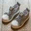 #รองเท้าMหัวยางลายหอยแถบไขว้ สีเทา thumbnail 1
