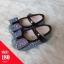 รองเท้าคัทชูส้นแบนติดเหลื่อมแต่งโบว์ สีดำ thumbnail 1