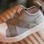 #รองเท้าMหัวยางลายหอยแถบไขว้ สีเทา thumbnail 5