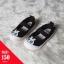 รองเท้าผ้าใบแบบสวมลายกระต่ายแต่งพู่ด้านหลัง สีดำ thumbnail 1