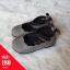 รองเท้าคัทชูส้นแบนลายฉลุสายรัดข้อเท้าโบว์ สีเทา thumbnail 1