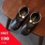 รองเท้าคัทชู puหนังนิ่ม แต่งด้วยกำไลรัดข้อเท้าประดับมุก สีดำ thumbnail 1