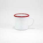 White/Red rim