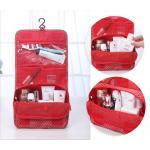 สีแดงลายดาว*กระเป๋าแขวน ใส่อุปกรณ์อาบน้ำและเครื่องสำอาง