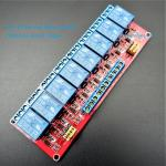 24V 8 Channel Relay High/Low Level Trigger Relay Module (Red PCB)