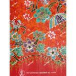 ผ้าถุงแม่พลอย mp11508 แดงส้ม
