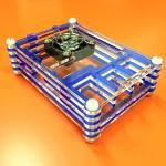 Raspberry Pi 3 Transparent Case สีน้ำเงิน (Acrylic 9 Layer มีช่องสำหรับ Heat Sink Fan และ GPIO)