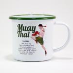 """Enamel Mug """"Muay Thai"""""""