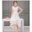 ชุดเดรสออกงาน ผ้าไหมแก้ว organza สีขาว ทอลายเส้นดอกไม้สีขาวเล็กๆ thumbnail 1