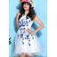 ชุดเดรสออกงาน ชุดเดรสผ้าไหมแก้ว สีขาว ปักลายดอกไม้สีน้ำเงิน สวยมากมายครับ แขนกุด ซับในด้วยผ้าซาตินสีขาว thumbnail 6