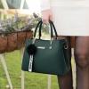 พร้อมส่ง กระเป๋าถือและสะพายข้างผู้หญิง แฟชั่นเกาหลี รหัส KO-802 สีเขียว 2 ใบ*แถมจี้ป๋อม