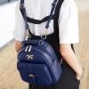 พร้อมส่ง ขายส่งกระเป๋าเป้สะพายหลัง แต่งโบว์เล็ก ปรับสะพายข้างได้ Sunny-815 สีน้ำเงิน 1 ใบ