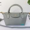 พร้อมส่ง DB-3008 สีเทา กระเป๋าแฟสะพาย inspired by Longchamp หนัง PU นิ่ม แต่งอะไหล่หนา มีถุงผ้า