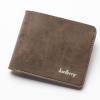 พร้อมส่ง กระเป๋าสตางค์ใบสั้น กระเป๋าเงินหนัง กระเป๋าเงินแฟชั่นเกาหลี ยี่ห้อ baellerry รหัส BA-DR012 สีน้ำตาล 2 ใบ