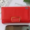 พร้อมส่ง รหัส FN-001 สีแดงสว่าง กระเป๋าสตางค์ Forever young ไซร์กลาง 3 พับ แต่งอะไหล่เหลี่ยม Original