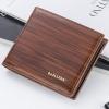 พร้อมส่ง กระเป๋าสตางค์ใบสั้นผู้ชาย นักธุรกิจ แฟชั่นเกาหลี ยี่ห้อ baellerry รหัส BA-BR005 สีน้ำตาลอ่อน 1 ใบ *ไม่มีกล่อง