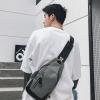 พร้อมส่ง กระเป๋าผู้ชายคาดอก แฟชั่นเกาหลี หนัง PU สลับผ้า ใส่ Tap 8 นิ้ว รหัส Man-9948 สีเทา 1 ใบ