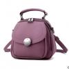 Pre-order กระเป๋าเป้สะพายหลังผู้หญิงใบเล็ก ปรับสะพายข้างได้ แฟชั่นเกาหลี รหัส Yi-2501 สีม่วงเข้ม
