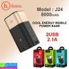 Hoco J24 Power bank แบตสำรอง 8000 mAh ราคา 380 บาท ปกติ 950 บาท