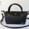 พร้อมส่ง DB-3008 สีดำ กระเป๋าแฟสะพาย inspired by Longchamp หนัง PU นิ่ม แต่งอะไหล่หนา มีถุงผ้า