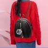 พร้อมส่ง กระเป๋าเป้ใบเล็ก ทรงหลังเต่า แฟชั่นสไตล์เกาหลี Yi-1001 สีดำ 1 ใบ *แถมจี้ป๋อม