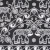 ผ้าถุงขาวดำ ec9925bk