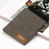 พร้อมส่ง กระเป๋าสตางค์หนัง นักศึกษาผู้ชาย กระเป๋าเงินแฟชั่นเกาหลี ยี่ห้อ baellerry รหัส BA-13855-2 สีเทา 2 ใบ ใบสั้นทรงตั้ง *ไม่มีกล่อง