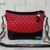 พร้อมส่ง DB-0564-2L สีแดง กระเป๋าสะพายแฟชั่นสไตล์ CN gabrielle สายโซ่ทูโทน ไม่ปั๊มแบรนด์*มึถุงผ้า