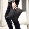 Pre-order กระเป๋าผู้ชายคลัทซ์ พร้อมสายคล้องมือ ใส่ ipad 9.5 นิ้วแฟขั่นเกาหลี รหัส Man-9920 สีดำ