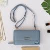 พร้อมส่ง รหัส GF570-1 สีฟ้า กระเป๋าสตางค์ยาว Forever Young แท้ อะไหล่ป้ายเหล็ก รุ่น 2 สาย โซ่-หนัง