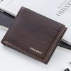 พร้อมส่ง กระเป๋าสตางค์ใบสั้นผู้ชาย นักธุรกิจ แฟชั่นเกาหลี ยี่ห้อ baellerry รหัส BA-BR005 สีน้ำตาลเข้ม 1 ใบ *ไม่มีกล่อง