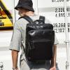 พร้อมส่ง ขายส่งกระเป๋าเป้หนังสะพายหลังเป้เดินทาง เป้ทำงานใส่คอมพิวเตอร์ 14 นิ้ว ใส่หนังสือ ผู้ชายเแฟขั่นเกาหลี รหัส Man-9010 สีดำ 2 ใบ