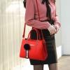 พร้อมส่ง กระเป๋าถือและสะพายข้างผู้หญิง แฟชั่นเกาหลี รหัส KO-802 สีแดง 1 ใบ*แถมจี้ป๋อม