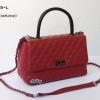 พร้อมส่ง DB-9008-L สีไวน์แดง กระเป๋าแฟชั่น COCO design หนัง PU นุ่มฟู พร้อมสายสะพายโซ่งานเย็บพรีเมี่ยม *ไม่ปั๊มแบรนด์ มีถุงผ้า