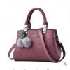 Pre-order ขายส่งกระเป๋าสตรี แฟชั่นเกาหลีขนาดกลาง แต่งลายเพชร KO-401 สีม่วง