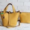 พร้อมส่ง DB-2925 สีเหลือง กระเป๋าแฟชั่นนำเข้าสไตล์ HM- Picotin ไซร์ 9 นิ้ว เย็บเนี๊ยบทุกจุด มีถุงผ้า ไม่ปั๊มแบรนด์