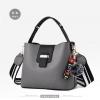 Pre-order กระเป๋าถือและสะพายข้างสตรี แฟชั่นเกาหลี รหัส KO-003 สีเทา *แถมป๋อม