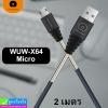 สายชาร์จ WUW-X64 Micro 2 เมตร ราคา 125 บาท ปกติ 310 บาท