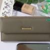 พร้อมส่ง รหัส L355-15 สีเทา กระเป๋าสตางค์ยาว Forever-young แท้ แต่งป้ายแบรนด์โลหะฉลุ