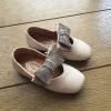 รองเท้าคัทชู #โบว์วิ้ง #หนังpu นิ่ม สีเบจ