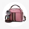 พร้อมส่ง กระเป๋าถือและสะพายข้างสตรี รหัส KO-320 สีชมพู 1 ใบ*แถมจี้ป๋อม