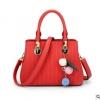 พร้อมส่ง ขายส่งกระเป๋าถือและสะพายข้างใบเล็ก เย็บลายทาง แฟชั่นผู้หญิง รหัส Sunny-978 สีแดง 1 ใบ *แถมพู่ห้อ