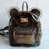พร้อมส่ง HB-5353-สีเทา กระเป๋าเป้พลาสติกใส-Mickey-design-พร้อมใบเล็กด้านใน
