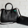 พร้อมส่ง DB-2963 สีดำ กระเป๋าแฟชั่นสไตล์ HM garden party หนัง PU นุ่มคืนทรง มีถุงผ้าไม่ปั๊มแบรนด์