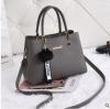 พร้อมส่ง กระเป๋าถือและสะพายข้างผู้หญิง แฟชั่นเกาหลี รหัส KO-802 สีเทา 1 ใบ*แถมจี้ป๋อม