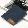 พร้อมส่ง กระเป๋าสตางค์หนัง นักศึกษาผู้ชาย กระเป๋าเงินแฟชั่นเกาหลี ยี่ห้อ baellerry รหัส BA-13855-2 สีน้ำเงิน 2 ใบ ใบสั้นทรงตั้ง *ไม่มีกล่อง