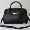 พร้อมส่ง HB-6016 สีดำ กระเป๋าแฟชั่นBirkin design พร้อมใบเล็ก ซับในหนังกลับอย่างดี
